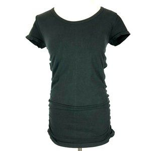 Athleta Pure Tee Organic Cotton Ruched Fitted S